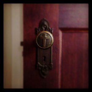 Beautiful old doorknobs at Mundelein. Photo by Angelique M. Richardson, CA.
